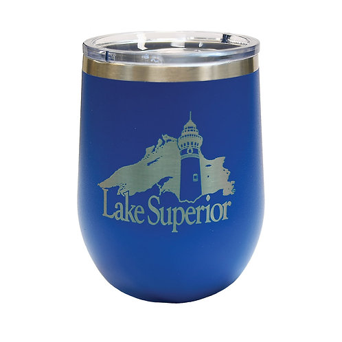 Lake Superior Insulated Stemless Glass
