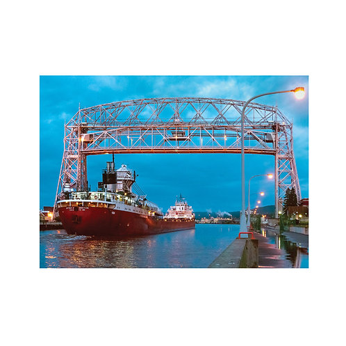 Arthur M. Anderson Coming in to Port Note Card