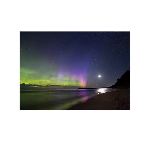 Moonlight Aurora Note Card