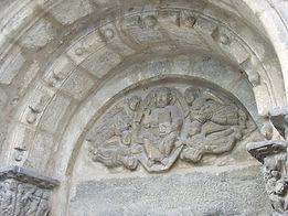 Tympan de l'église de Saint Aventin