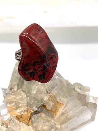Red Jasper Crystal Ring
