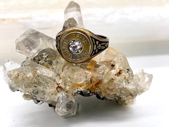 9mm Upcycled Ring with Swarovski Diamond