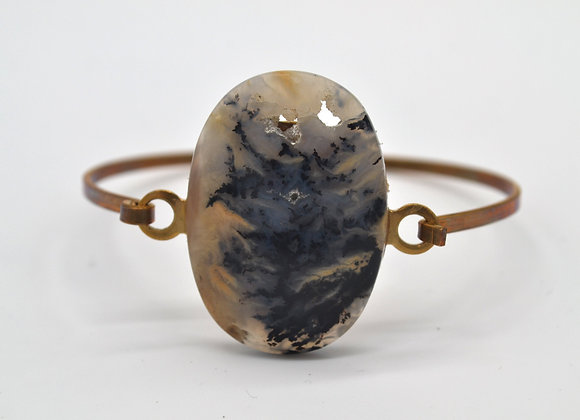Dendritic Agate Bangle