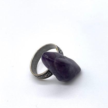 Amethyst Adjustable Ring