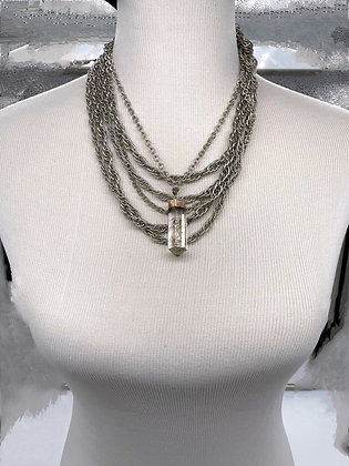 Vintage Quartz Statement Necklace