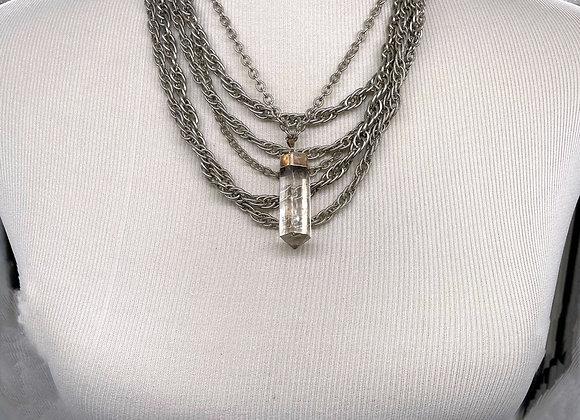 Vintage Quartz Statement Necklace