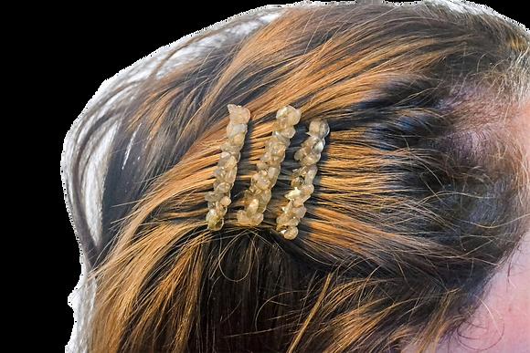 3 Pack Hair Combs: Labradorite