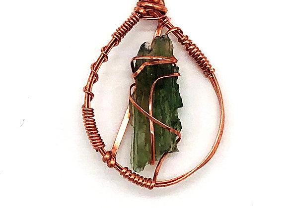 Moldavite Copper Wire Wrap