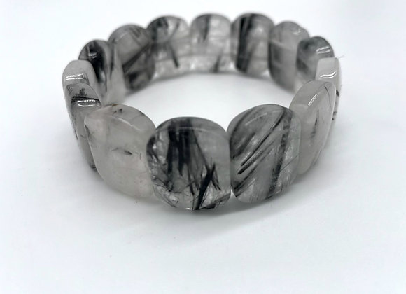 Tourmalated Quartz Bangle Bracelet