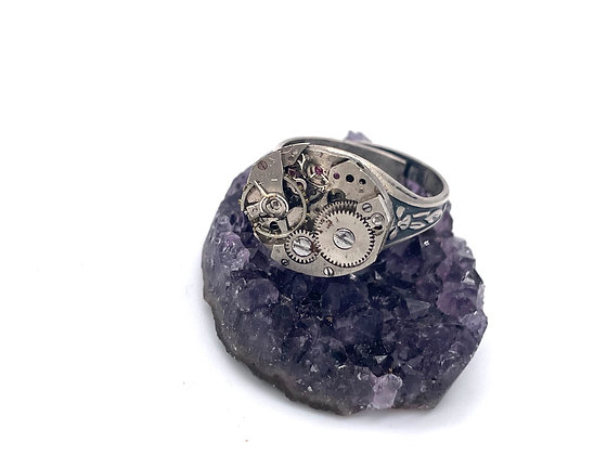 Timeless: Vintage Watch Gear Ring