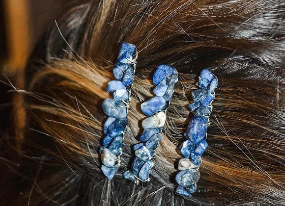 3 Pack Hair Combs: Lapis Lazuli