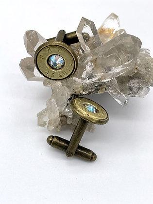 45Auto Brass Cufflinks