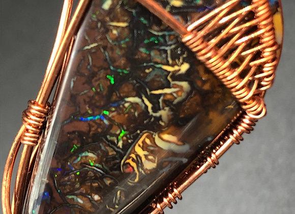 Koroite Opal Copper Wired Pendant