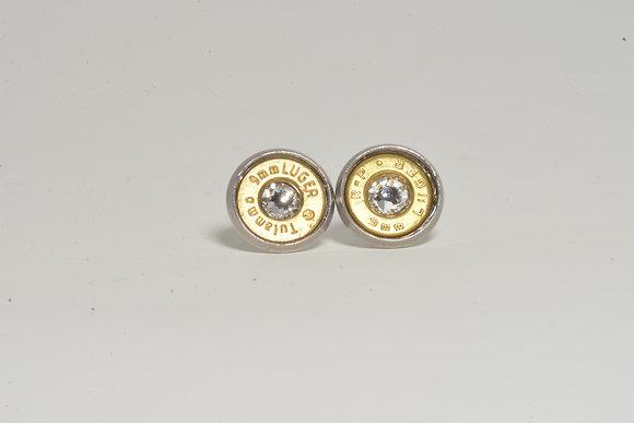 Bullet Casing Earrings 9mm Brass