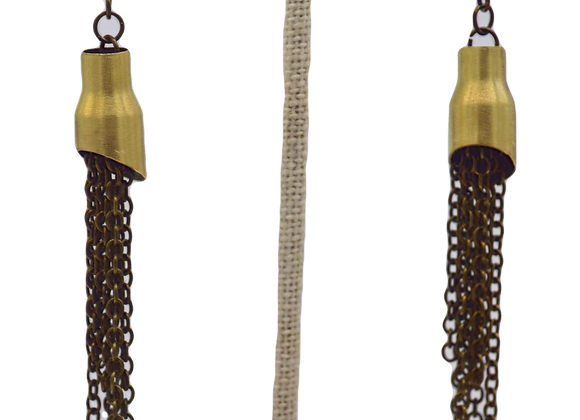 Upcycled Bullet Drop Earrings