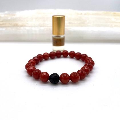 Carnelian Diffuser Bracelet