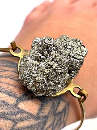 Pyrite Bangle Bracelet