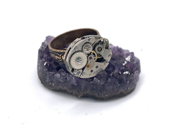 Timeless: Vintage Gears Ring