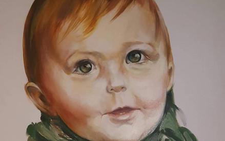 Portrait acylique 100cm x 100cm