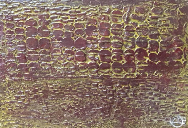 Enduit gesso impression crocodile patiné