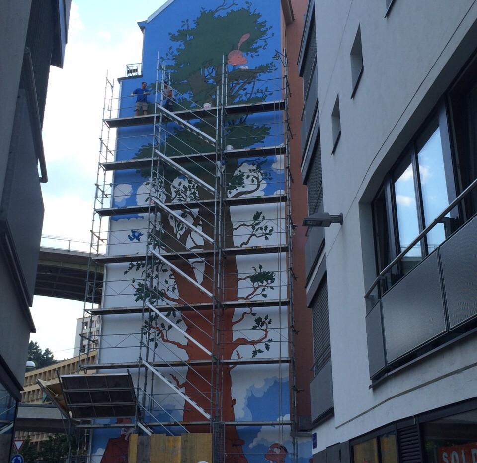 Fresque monumentale pour Zep Lausanne