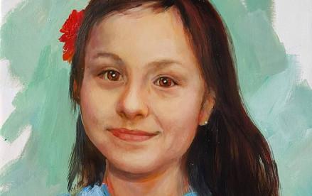 Portrait jeune fille 40cm x 60cm