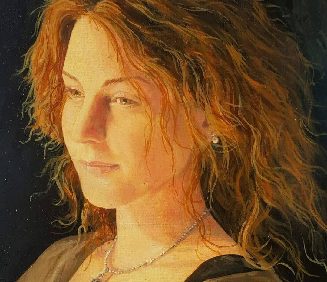 Portrait Joye à l'huile 20cm x 30cm