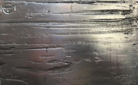 Impression gesso structure feuille d'arg