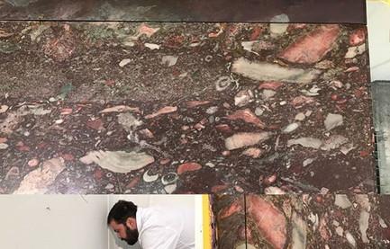 Restauration meuble marbres