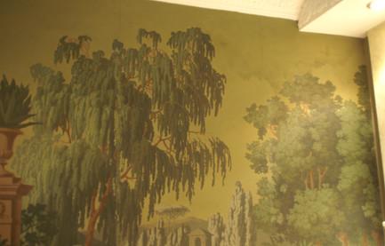 Restauration papier peint Zuber
