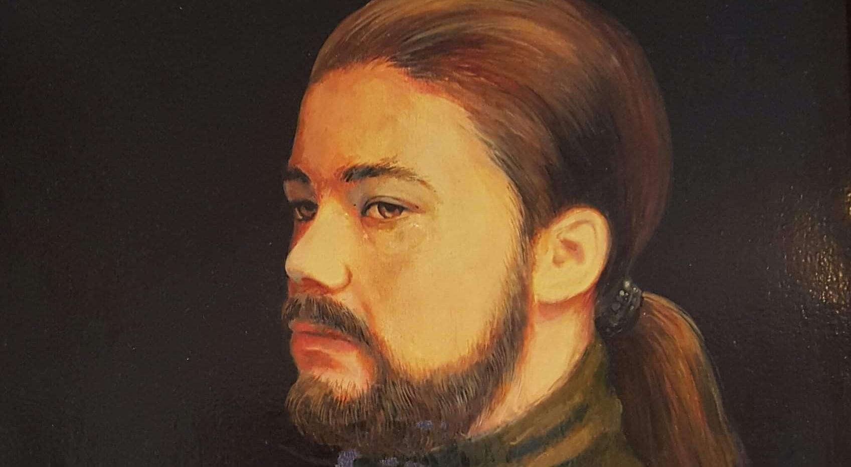 Autoportrait huile 60cm x 80cm