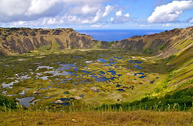 Latin America Chile Easter Island Volcan