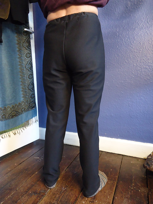Leggings Black Tencel-Silver