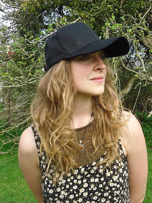 EMF protective cap, adult unisex black
