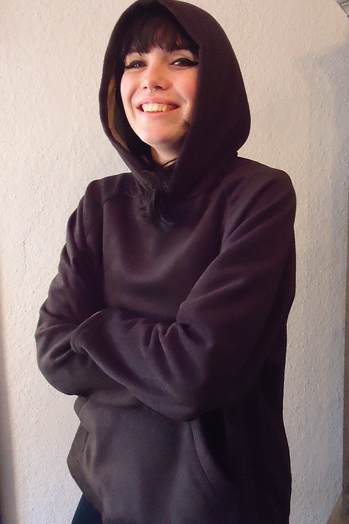 Silver lined Fleece hoodie w/pocket 5G/EMF protection