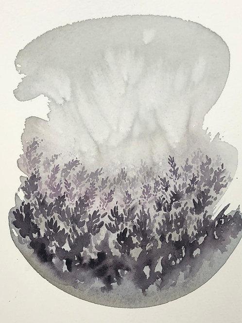"""Purple Mist (8x10"""" art in a 16x20"""" mat)"""