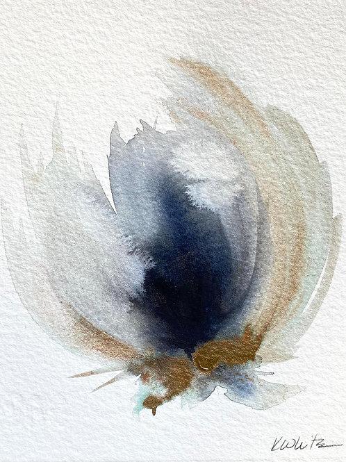"""Watercolor Bloom 4 (6x7"""")"""