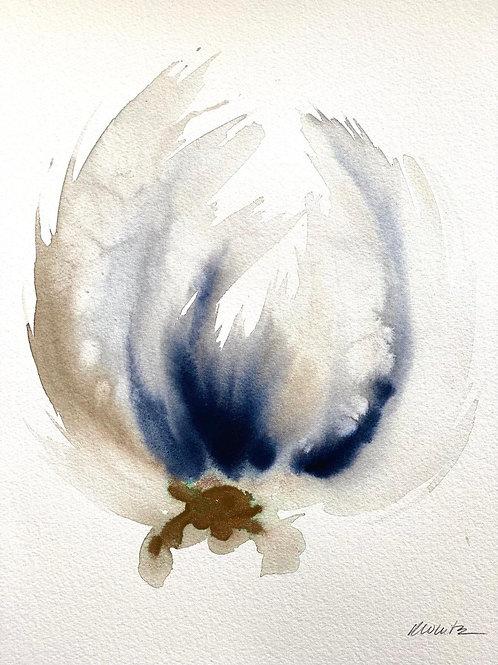 """Watercolor Bloom 1 (11x15"""")"""