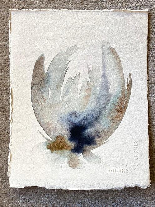 """Watercolor Bloom 2 (6x7"""")"""