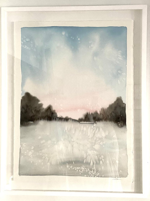 """Pink Sky ( framed 30x36"""")"""