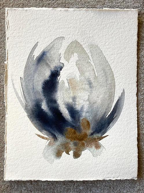 """Watercolor Bloom 1 (6x7"""")"""
