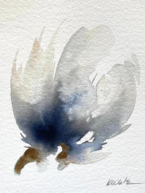 """Watercolor Bloom 6 (6x7"""")"""
