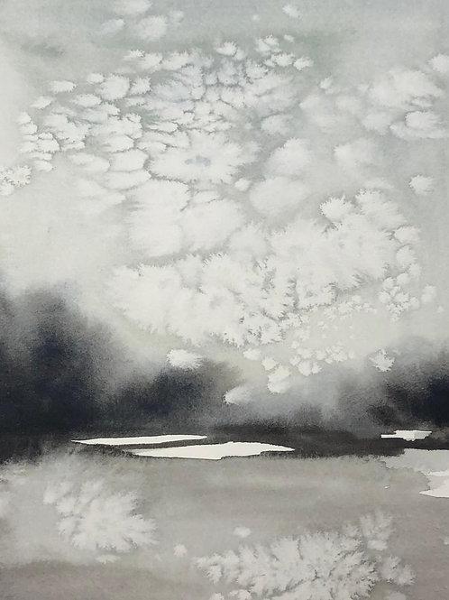 """The Clouds II (8x10"""" art in a 16x20"""" mat)"""