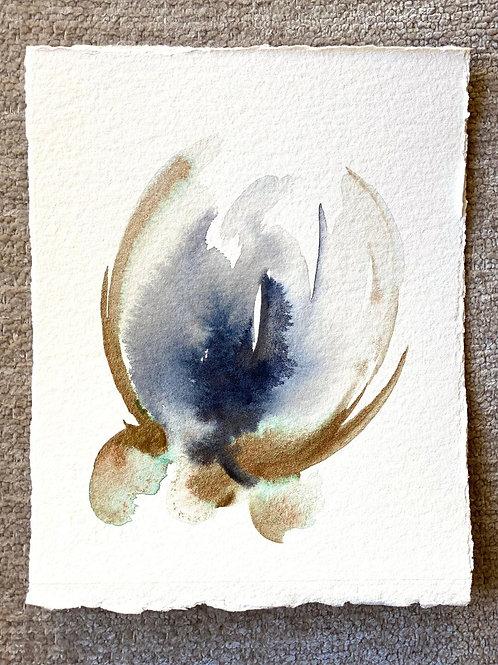 """Watercolor Bloom 3 (6x7"""")"""