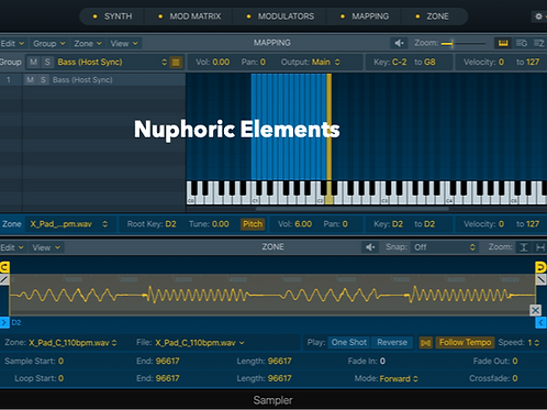 Nuphoric Elements - Logic Pro X Sampler