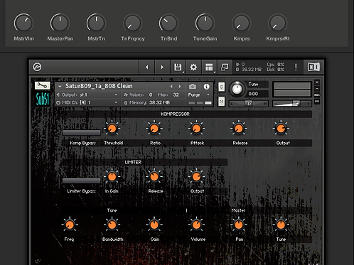 Satur809 V1.5 - NI Kontakt and Apple Loops