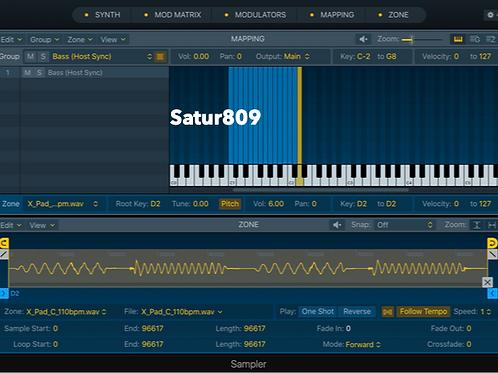 Satur809 - Logic Pro X Sampler