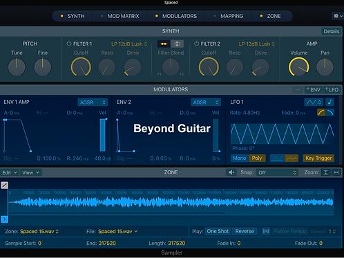 Beyond Guitar - Logic Pro X Sampler
