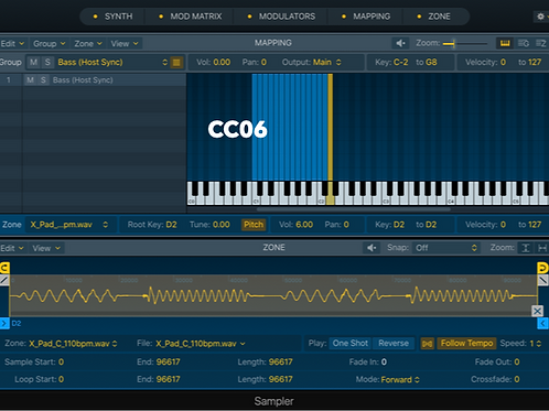 CC06 - Logic Pro X Sampler