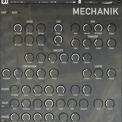 Mechanik - Kontakt, Komplete Kontrol and REX2 + Bonus Kontakt Instrument